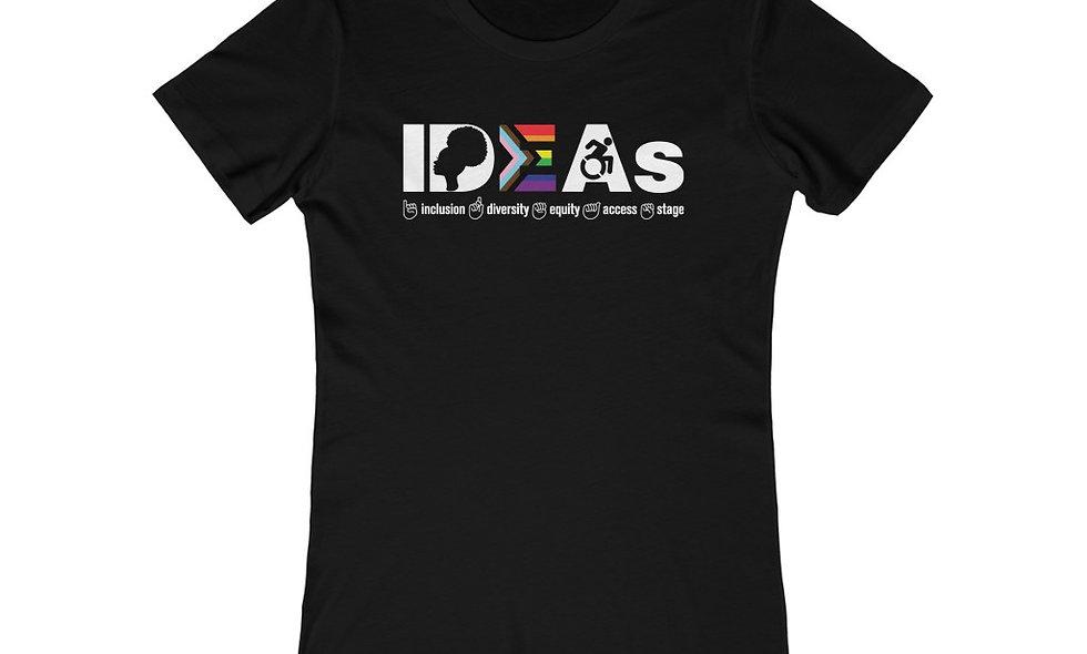 IDEAs Stages Women's Fit Tee - OUTSPOKEN (Black)