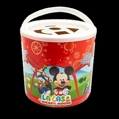 Cubeta de Bloques Madera Mickey