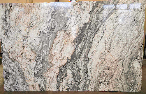 brown and white quartz countertop ready