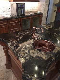 Titanium granite kitchen countertop - Eash Stoneworks - IL