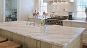 white quartz kitchen countertop with sink