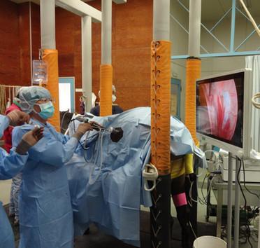 立位 腹腔鏡下手術