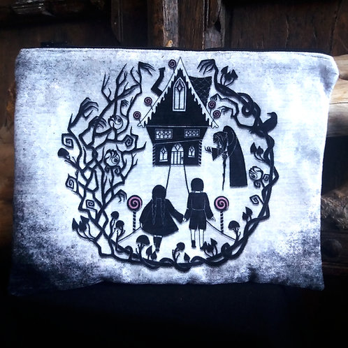 Large Zip Pouch - Hansel and Gretel