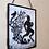 Thumbnail: Framed Velvet fabric Art print - Pan on White