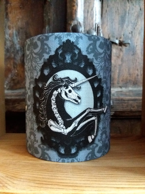 small fabric lantern - 'Unicorn Skeleton'