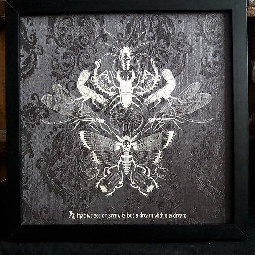 Midnight Flit Framed Wallpaper Print
