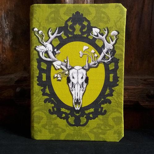 A5 notebook - Deer Skull - Spring Green