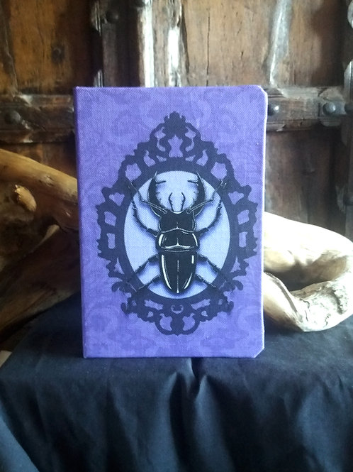 A5 notebook - Stag Beetle in Purple