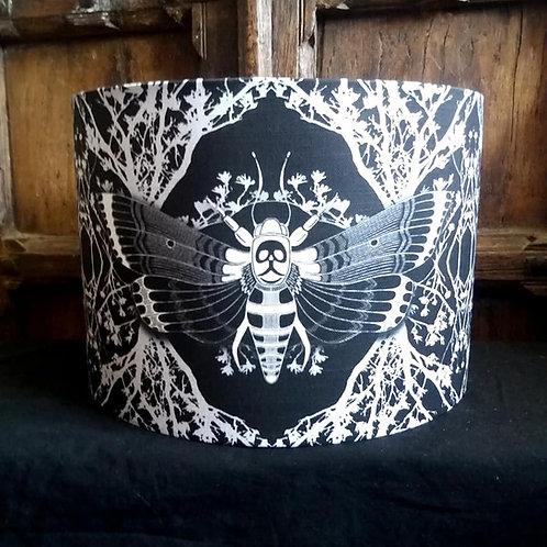 "25cm (10"") Lamp shade - 'Ghost Moth - black'"