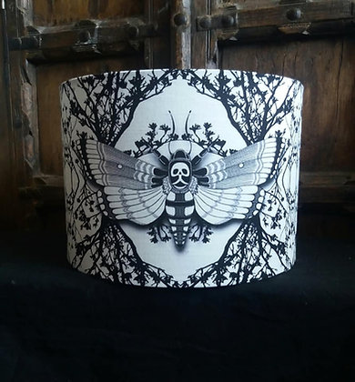 """30cm (12"""") Lightshade - 'Ghost Moth' - Choose Your Colour - PA"""