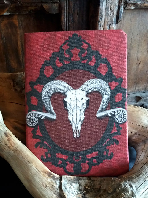 A5 2021 Diary -  Ram Skull in red