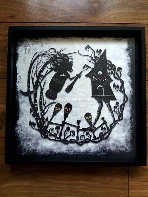 """16"""" Framed Velvet Art Print - Baba Yaga"""