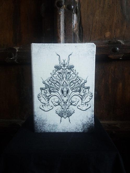 A5 notebook - Mantis/Mushroom b/w