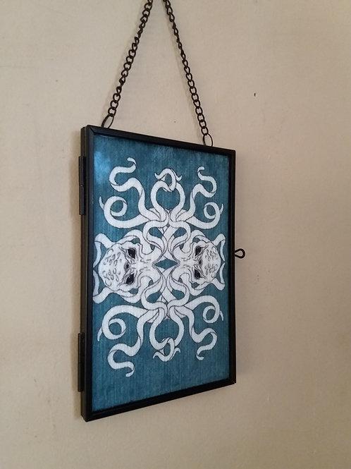 small Framed Velvet fabric Art print -  Cthulhu