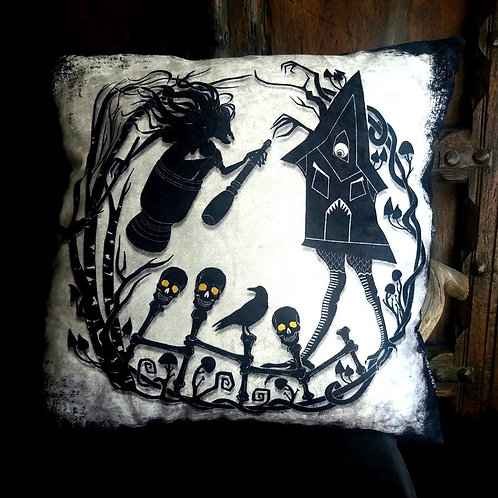 Baba Yaga Cushion - Bayeux Velvet