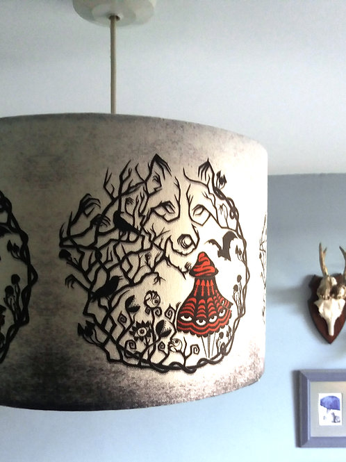 "40cm (16"") Lightshade - 'Red Riding woods"