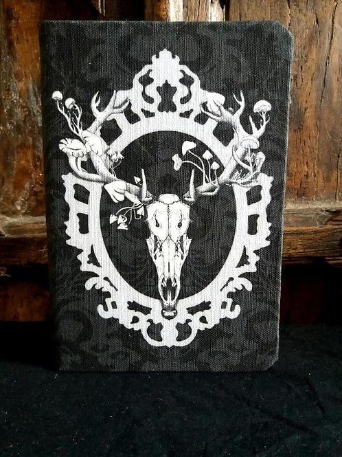 A5 notebook - Deer Skull - Black