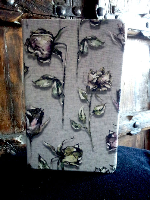 A5 notebook - Dead Roses - Grey