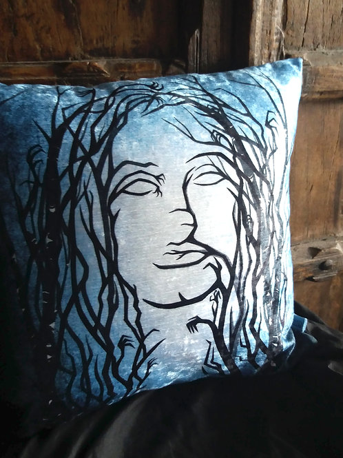 Lost Girl - Lost in the Woods Cushion - (Bayeux Velvet)