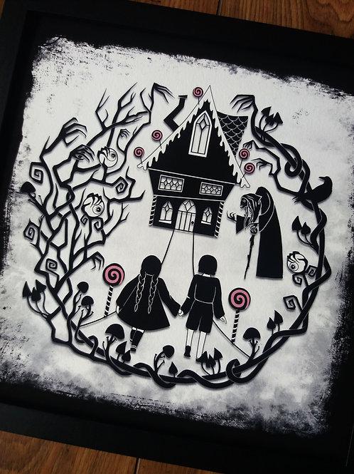 """Hansel and Gretel - 12"""" Framed Art Print"""