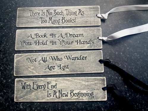Wooden Lasercut Bookmark - quotes