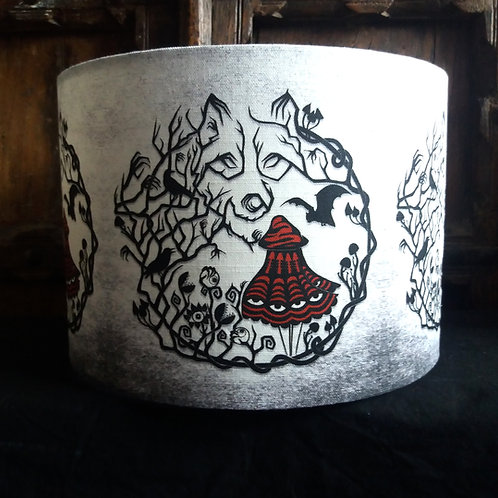 """25cm (10"""") Lamp shade - Red Riding woods"""