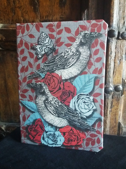 A5 notebook - Raven - in Red