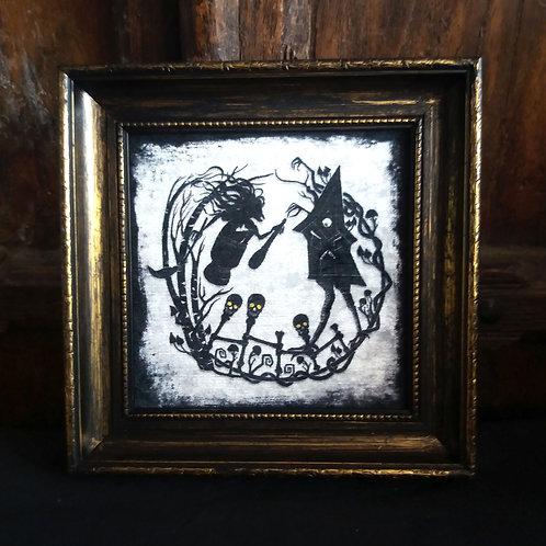 Framed Velvet fabric Art print - Baba Yaga