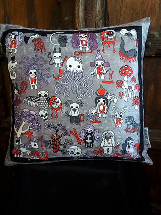 Creepy Cute Alphabet Cushion - PA
