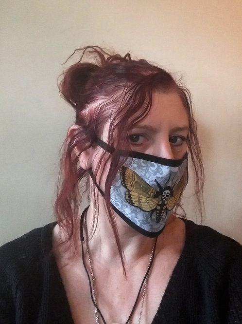 Facemask - Deathshead Hawkmoth - Grey