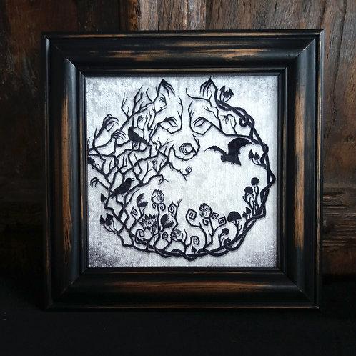 Framed Velvet fabric print - Into the Woods