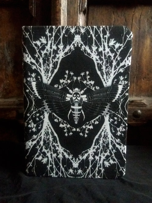 A5 notebook - Ghost Moth - black