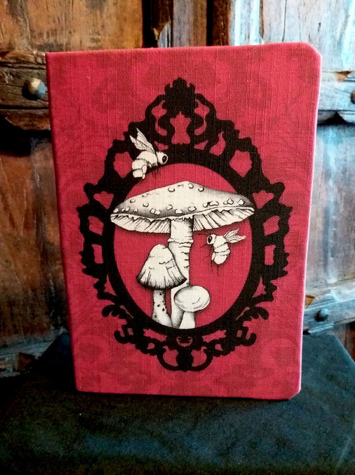 A5 notebook - Toadstool - RED
