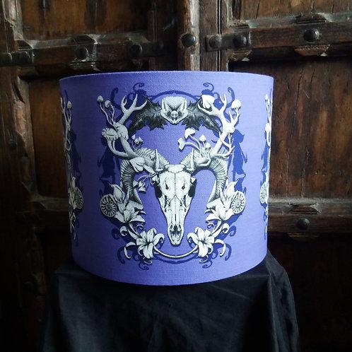 "25cm (10"") Lamp shade - 'Purple Spring Resurrection'"