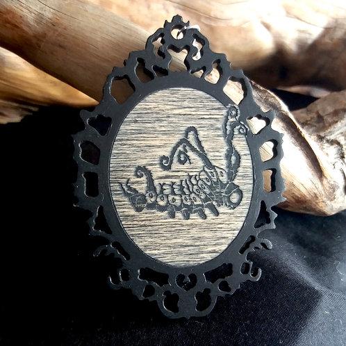 Lasercut Wooden necklace - Caterpillar