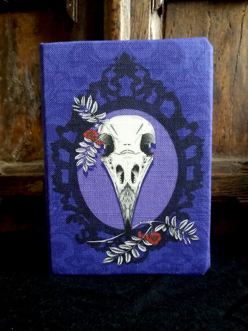 A5 2021 Diary -  Crow Skull in Purple