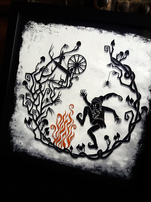 """Rumplestiltskin - 12"""" Framed Art Print"""