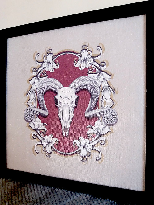Ram Skull - Framed Wallpaper Print