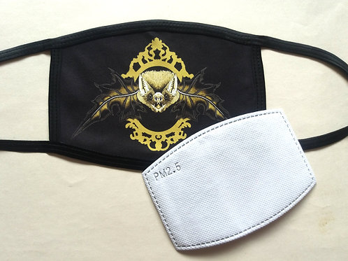 Facemask - Mr. Bat (Black and Gold)