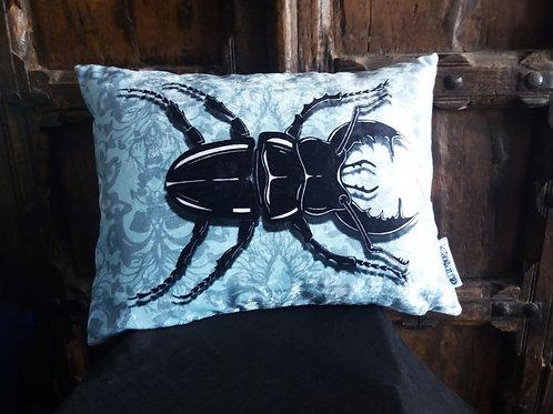 Stag Beetle Cushion (Bayeux Velvet)