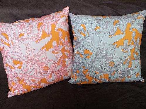 Lily Ensemble, Bright - Cushion (faux suede)