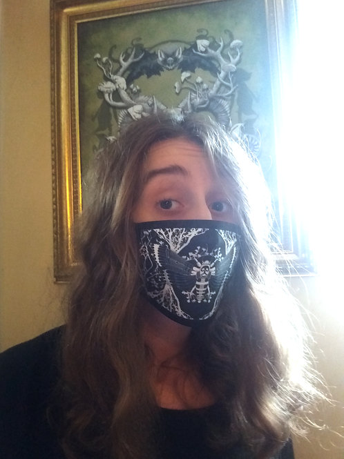 Facemask - Ghost Moth - Black