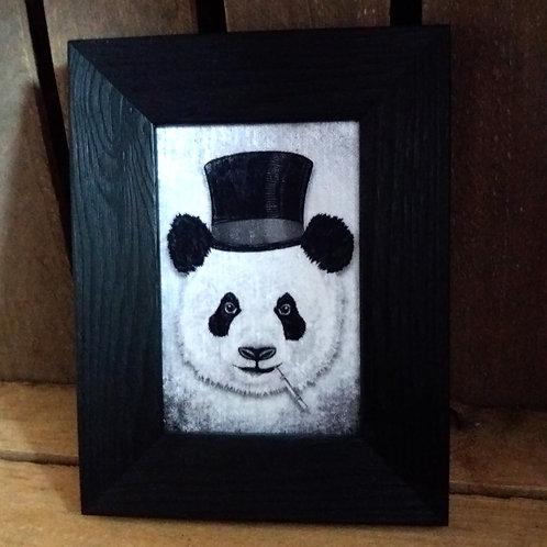 Framed Bayeux Velvet fabric print - Dandy Panda