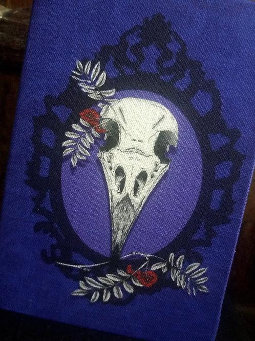 A5 notebook - Crow Skull on purple
