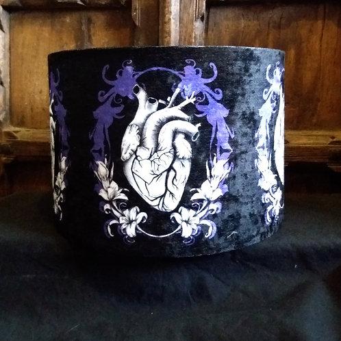 "30cm (12"") Lightshade - Anatomical Heart black and purple"