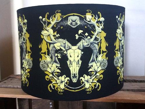 "25cm (10"") Lamp shade - 'Spring Resurrection' black and gold"