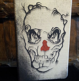 A5 notebook - Little Red Riding hood/Skull