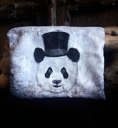 Large Zip Pouch - Dandy Panda - PA