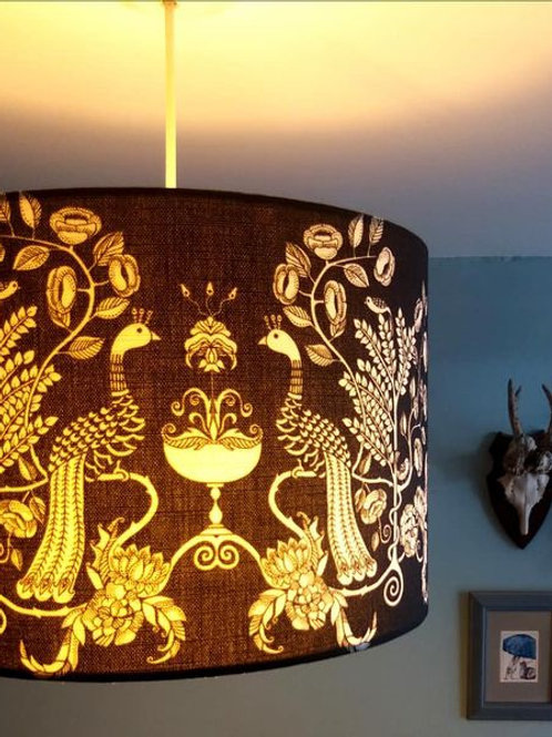 "40cm (16"") Lightshade - 'Peacock Chalice'"