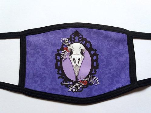 Facemask - Crow Skull on Purple